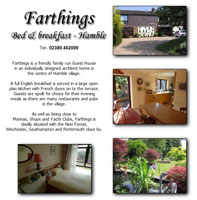 Farthins Bed and Breakfast located in Hamble