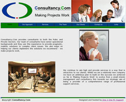 Web Site designed for Consultancy.com Making Projects Work