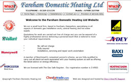 Welcome to the Fareham Domestic Heating Ltd
