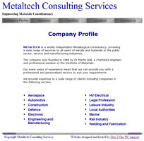 METALTECH providing a wide range of services to all users of metals and materials.