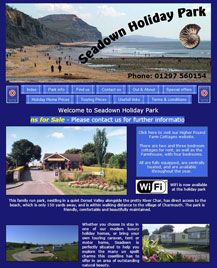 web Site designed for Seadown Holiday Park in located in the charming village of Charmouth near the historic town of Lyme Regis. It's a quite park providing both static caravan hire as well as level touring pitches.