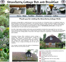 Web Site designed for Strawberry Cottage B&B Hedge End